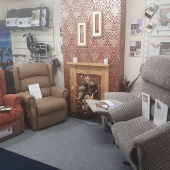 Show Room full of rise and recline chairs