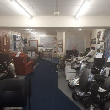 show room full of mobility products
