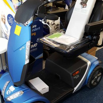 stylish blue mobility scooter