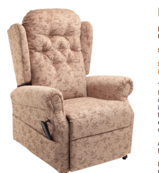 Rise and recline chair cream colour