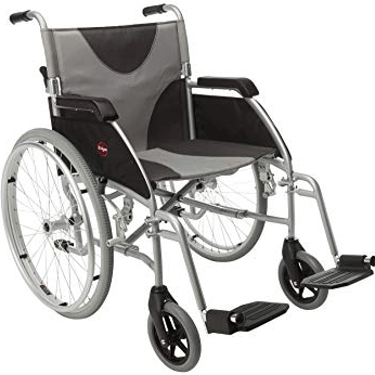 black and grey wheelchair