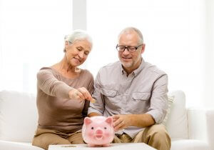 Mature Couple Saving Money